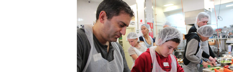 Cook for Good, Sunday August 18, kids and parents cook a record 643 meals!
