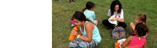 Shomer Achi kids volunteer with indigenous youth – June 2014