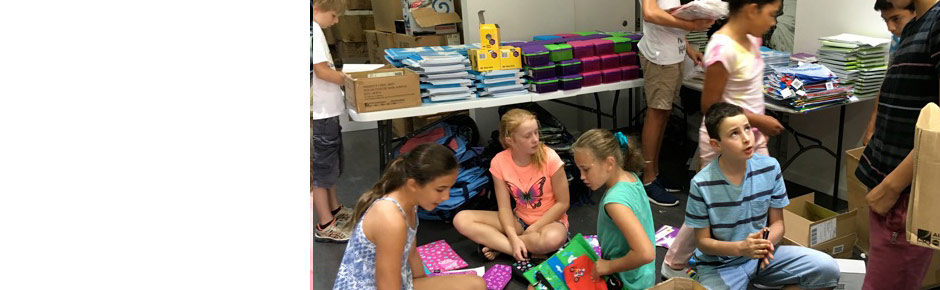 School supplies for 150 kids living in shelters