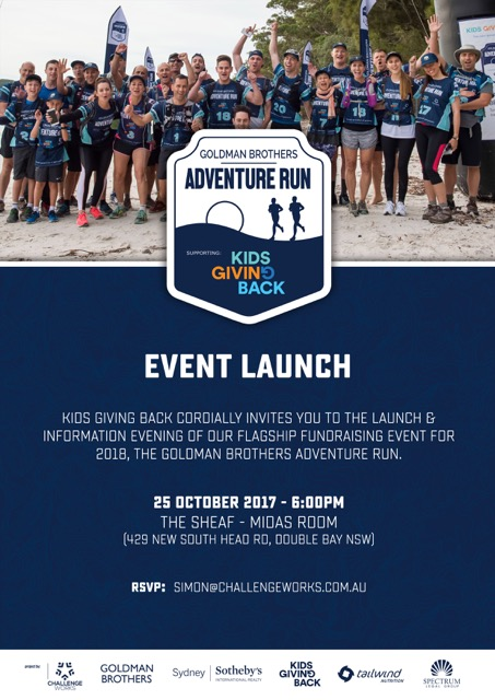 Adventure Run 2018 launch this Wednesday, Oct 25 – join us!