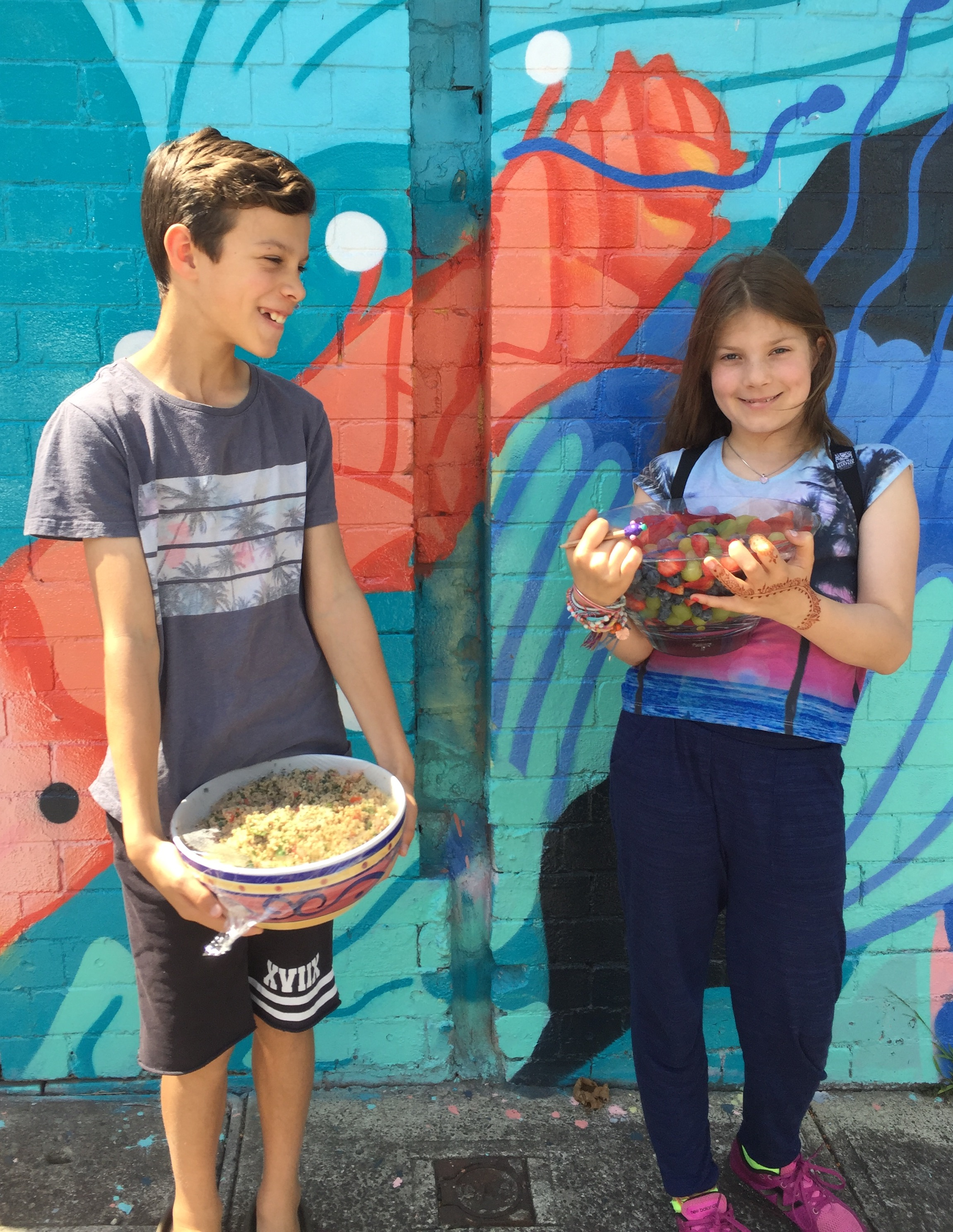 Kids Giving Back families make lunches for Asylum Seekers Centre clients