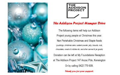 For the family – get involved with the Addison Project Christmas Hamper drive