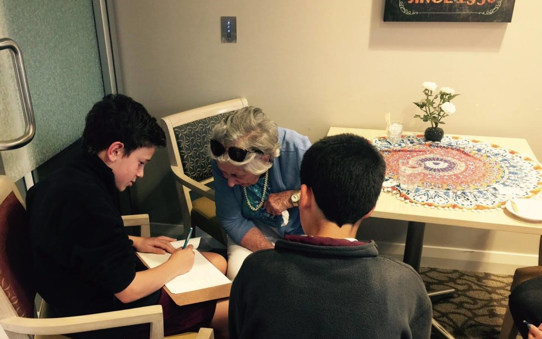 Teens excited after visiting residents at an aged care home? You bet!