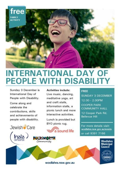 Free Event: Join in and celebrate the achievements of people with disability