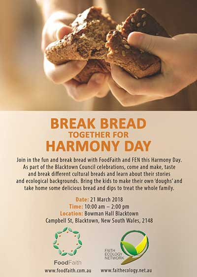 Break bread with Food Faith this Harmony Day