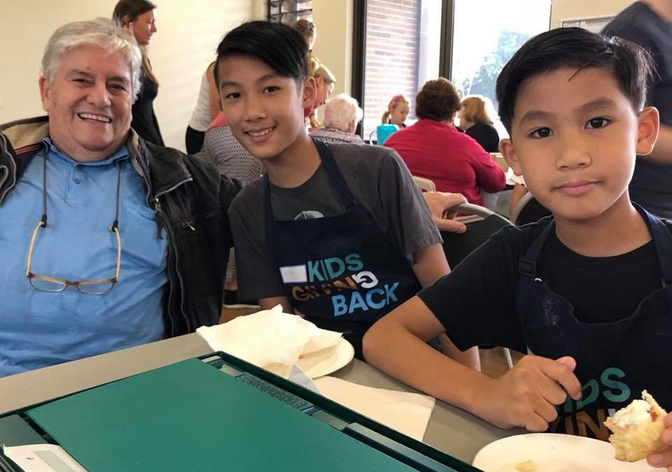 Making new friends at Scones4Good – School holidays program