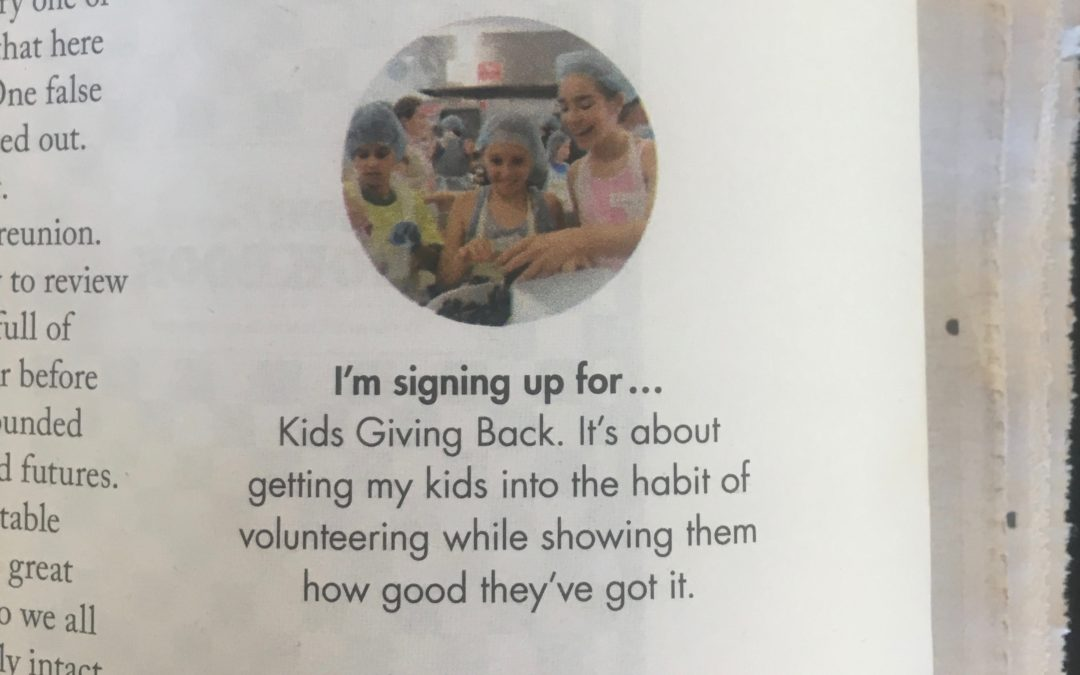 Why Jacinta Tynan is signing the kids up for Kids Giving Back