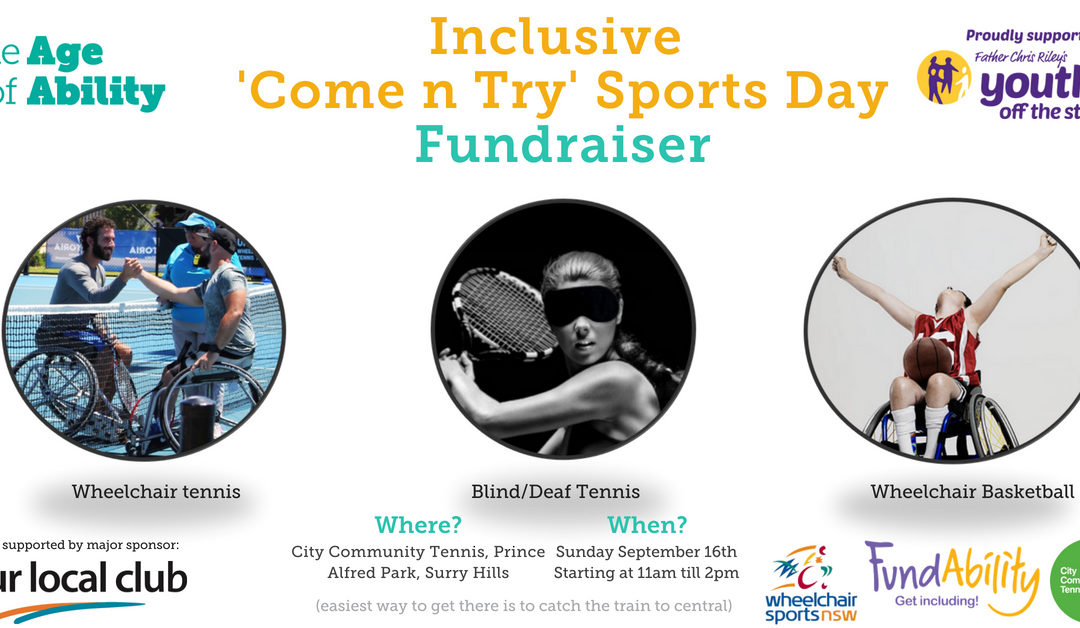 10 x TEEN VOLUNTEERS age 14+ needed by The Age of Ability to assist with their Inclusive Sports 'Come N Try' Day