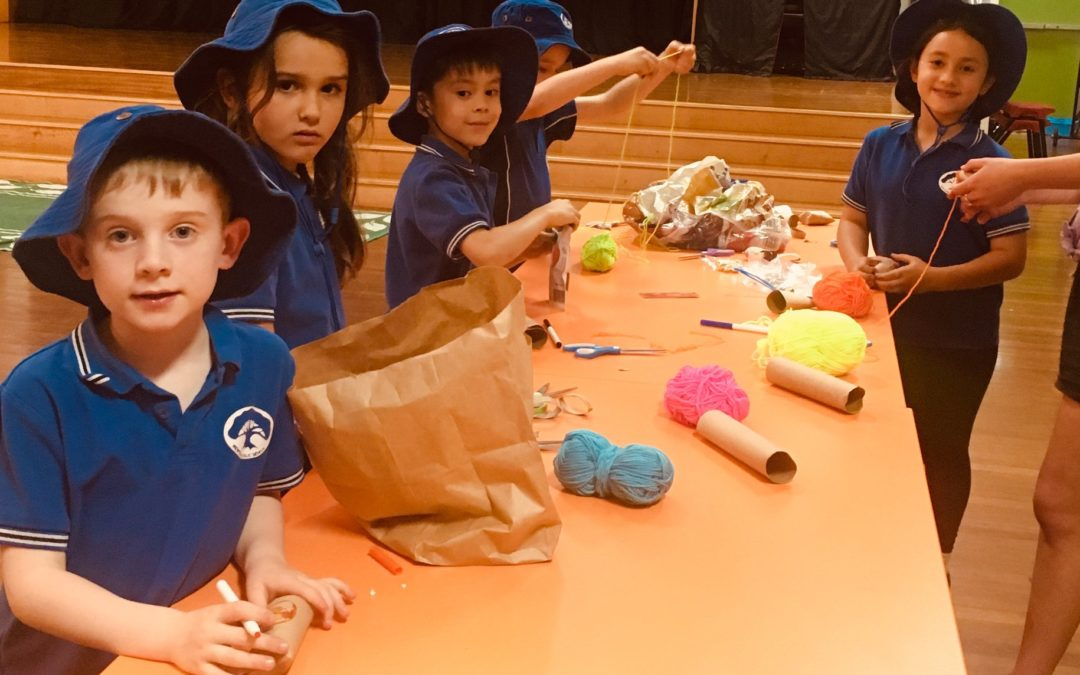 Newtown OOSH kids make toys for pets at Maggie's Rescue