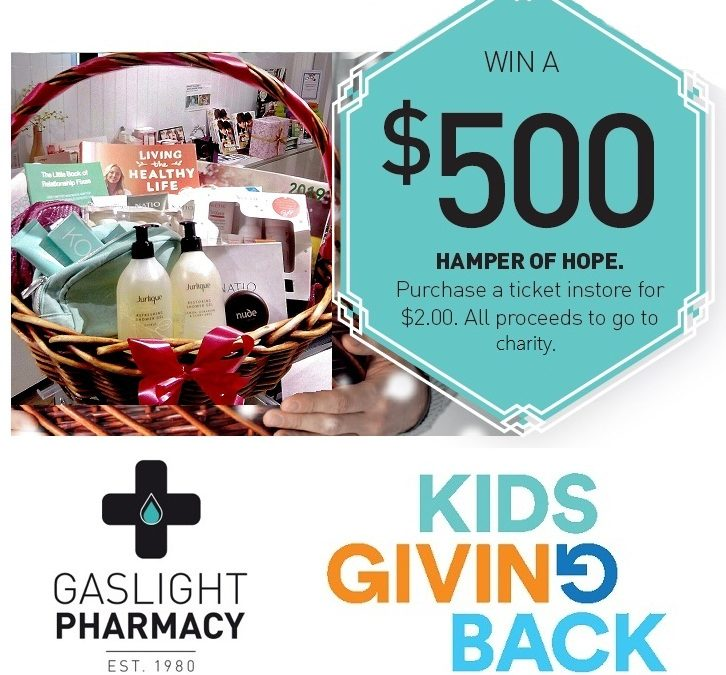 Buy a raffle ticket at Gaslight Pharmacy, Rose Bay and support Kids Giving Back