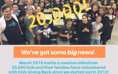 Sunday's Cook4Good took us to an amazing 20,000 volunteers to date!