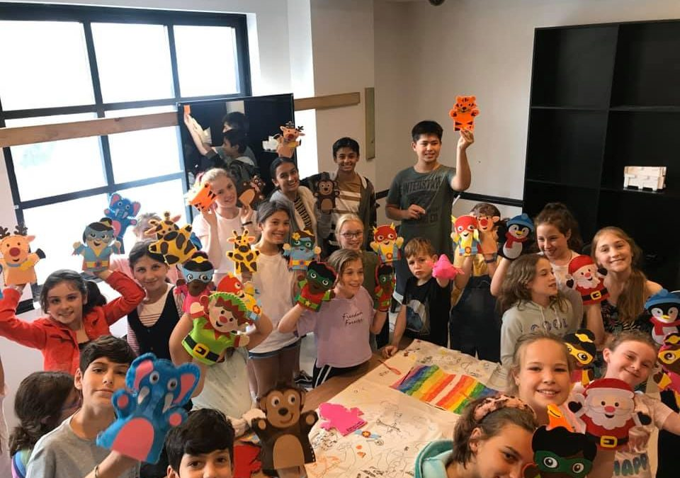 Puppets created and donated to children living in shelters and affected by bushfires!